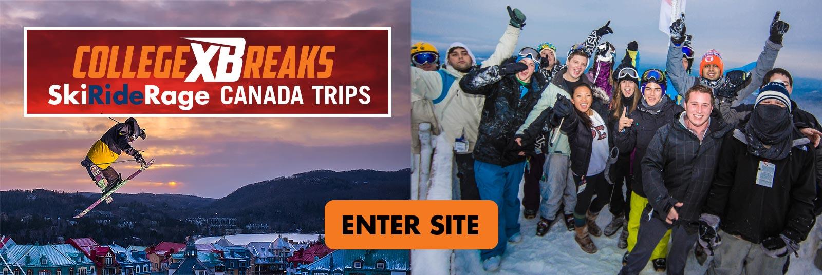 CollegeXBreaks ski trips