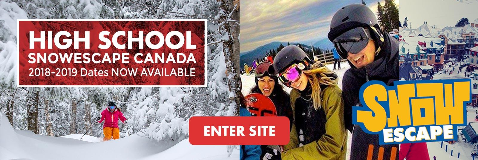 Highschool ski trips Canada